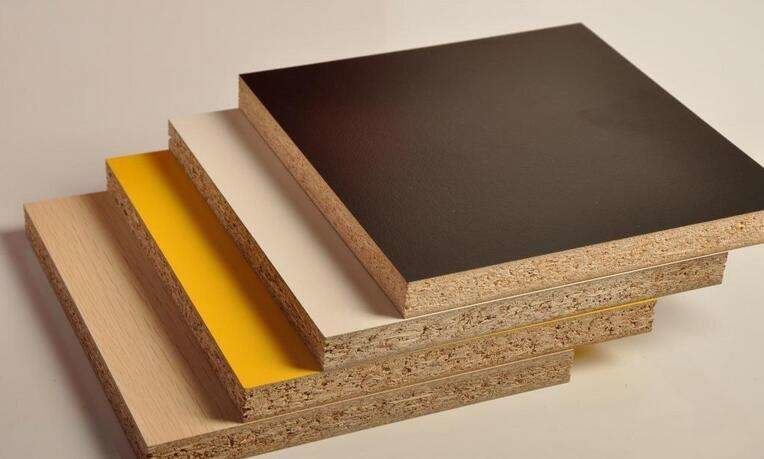 Standard Size Melamine Laminated Particle Board For Furniture Construction 1220*2440mm