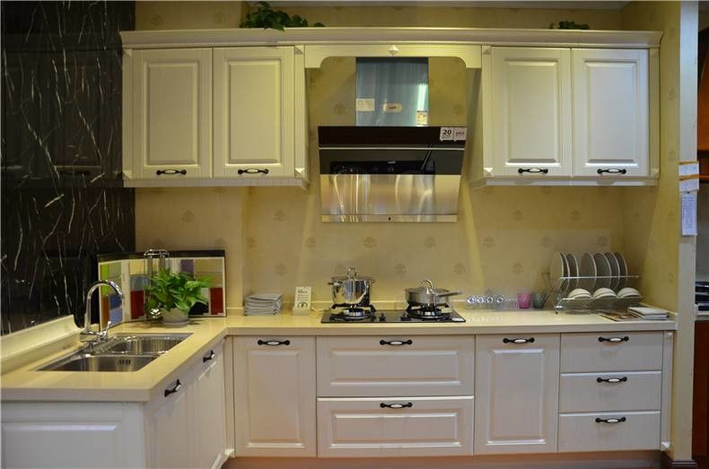 Hettich White Solid Wood Kitchen Cabinets / Blum White Wood Kitchen Cupboards