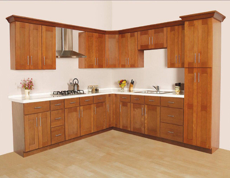 High Gloss Plain Particle Board Kitchen Cabinets Formaldehyde Free Raw Material