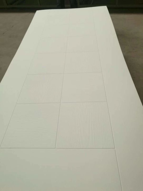 Simple White Melamine MDF Door Skin With Customized Printing Scratch Resistance